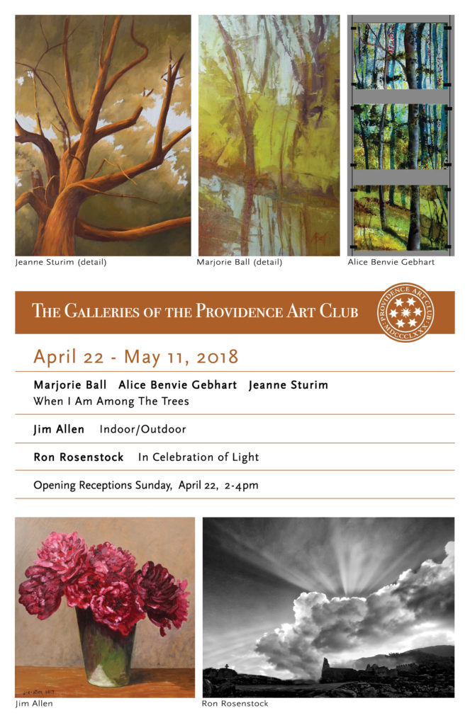 April 22 exhibitions Providence Art Club