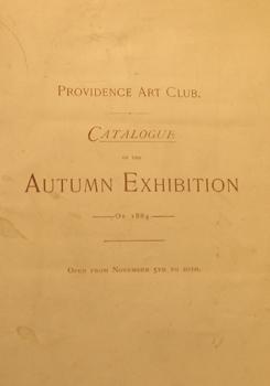 THUMBNAIL 1884, November 5-20, Catalogue of the Autumn Exhibition
