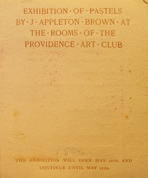 THUMBNAIL - 1886, May 12-27, Exhibition of Pastels by J. Appleton Brown at the Rooms of the Providence Art Club
